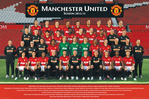 England Manchester United Players Team Photo (2012-2013) English Football Soccer Sports Fan Poster Print 24x36 (United Manchester Giggs Ryan)