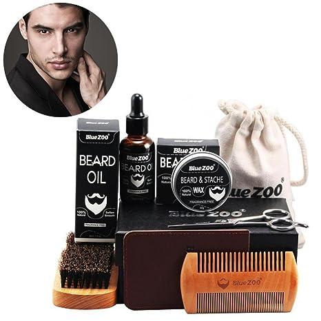 Traje de barba, Kit de preparación y recorte portátil para el cuidado de hombres -