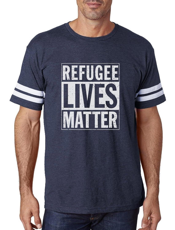 TeeStars - Refugee Lives Matter Human Rights Football Jersey T-Shirt