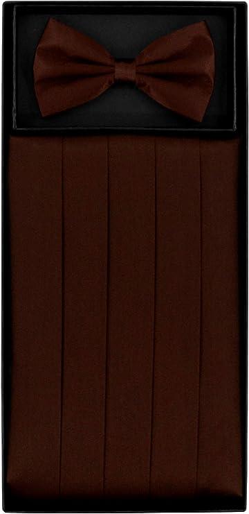 Chocolate Brown Satin Cummerbund