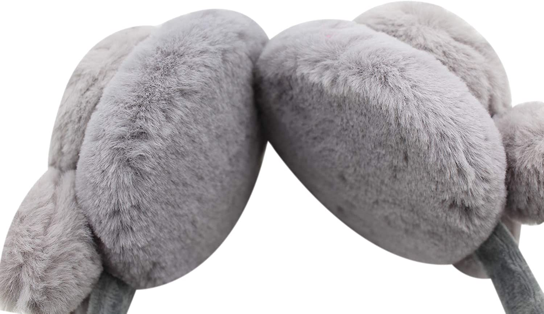 Women Girls Winter Earmuffs Cute Cartoon Rabbit Bunny Plush Furry Ear Warmers Earflap Ear Muffs
