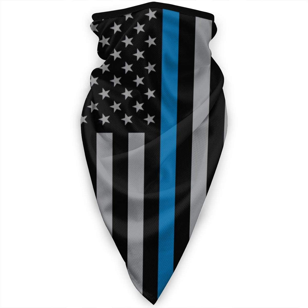 Police Blue Lives Matter Face Mask Neck Gaiters Bandana Scarf Balaclava Multifunctional Headwear for Outdoor Sports