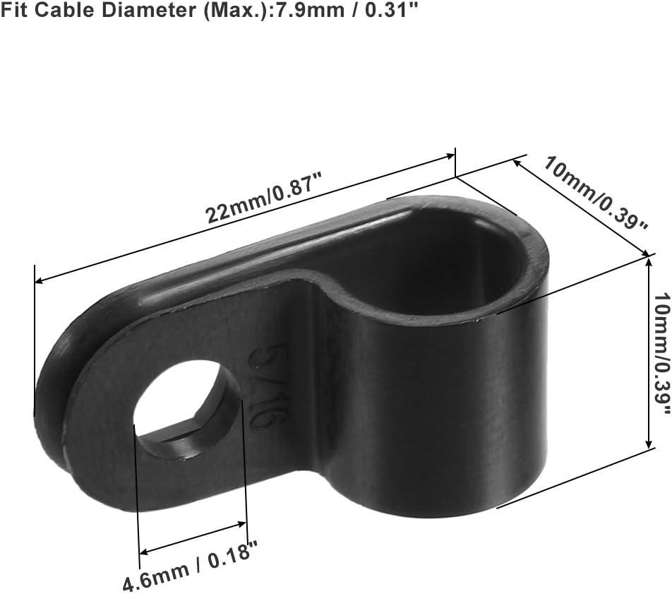 Carte de Source en nylon Organiseur R-Type Serre c/âble cordon Clips pour fils Gestion 7,9/mm
