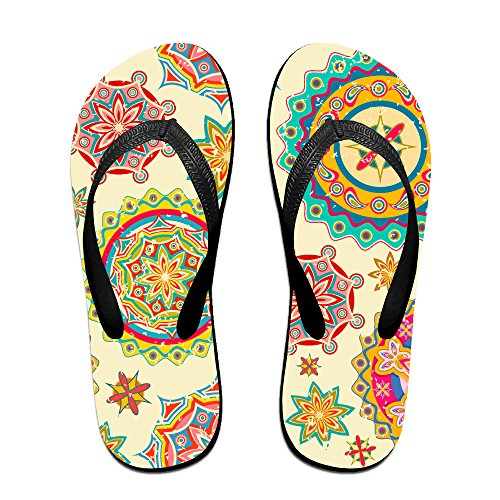 Double Happiness Summer Unisex Geometric Art Classical Comfortable Flat Pool Flip-Flop