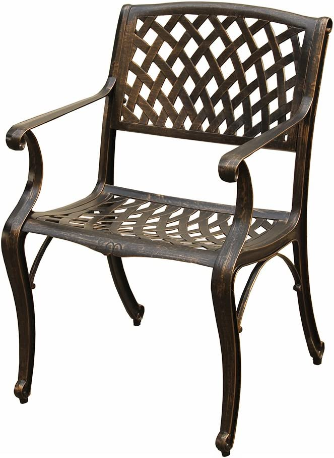 Oakland Living Outdoor Dining Chair, Bronze