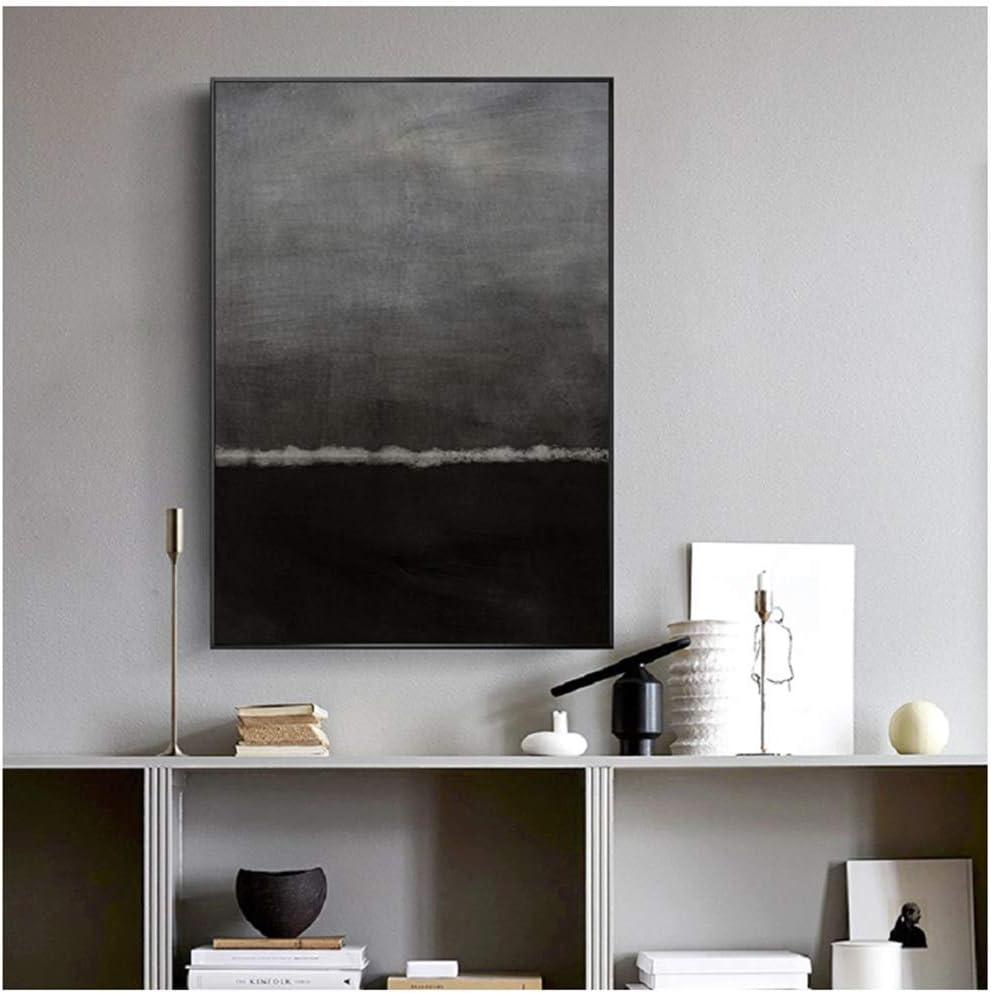 Impresionista abstracto lienzo pintura cartel e impresiones pared arte imagen para sala interior decoración del hogar 70x90cm sin marco negro: Amazon.es: Hogar