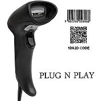 Scanner Code à Barres Câblé MUNBYN Lecteur de Code-Barres avec Fil USB 1D 2D QR Code pour Magasin de Détail, Magasin de Vêtements, Supermarché et Petite Entreprise à Domicile