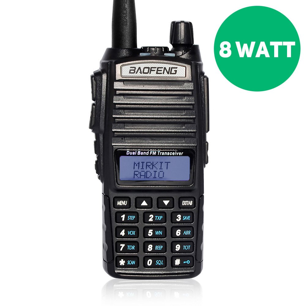 BaoFeng UV-82 MK5 8W High Power 2018 Two Way Amateur (Ham) Radio Walkie Talkie, Mirkit edition
