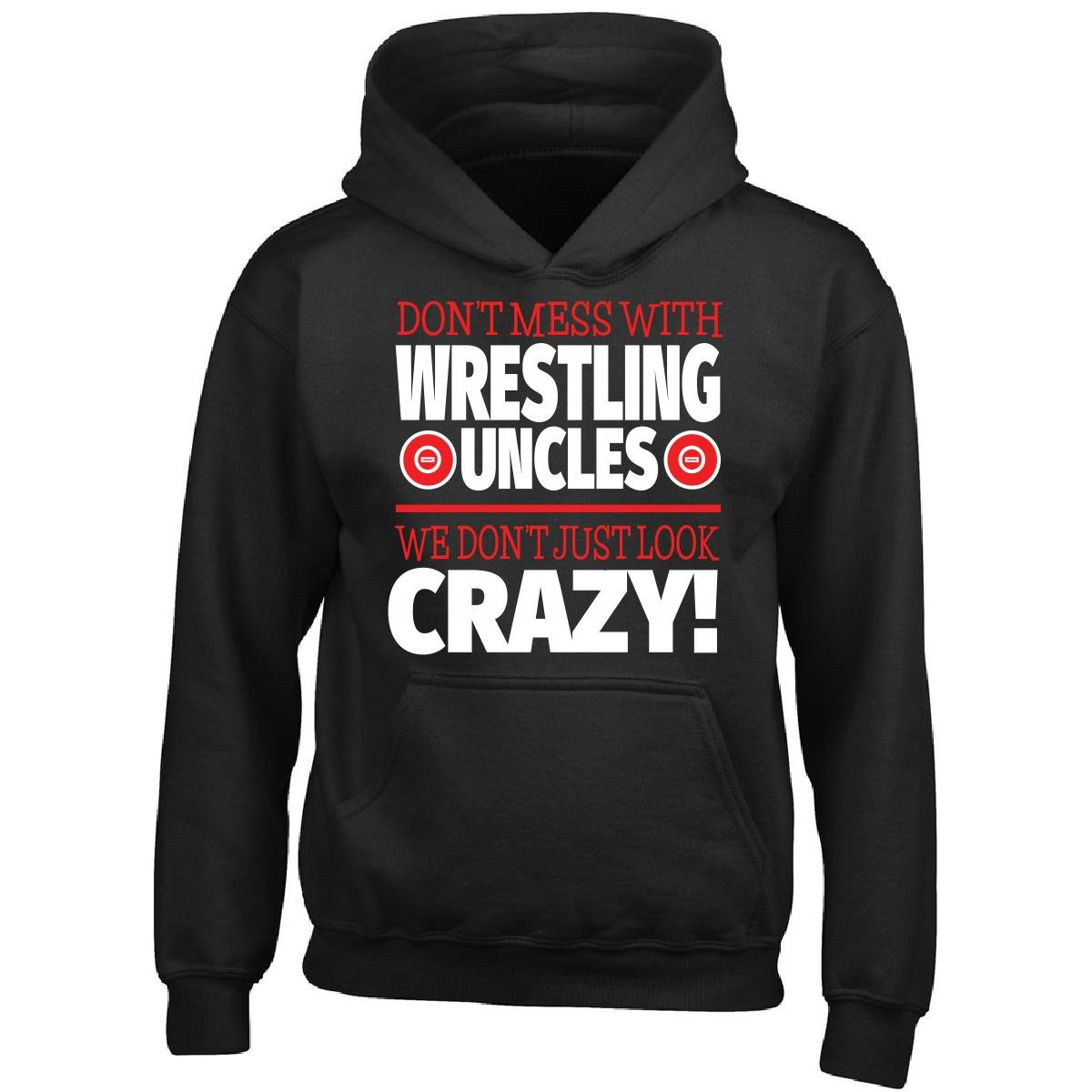 Crazy Wrestling Family - Don't Mess With Wrestling Uncles - Boy Boys Hoodie