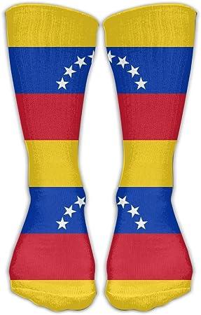 WEEDKEYCAT - Calcetines Altos para Hombre y Mujer, con Bandera de Venezuela y Calcetines Largos de algodón para Practicar Deporte o Yoga, Senderismo, Ciclismo, Running, fútbol: Amazon.es: Hogar