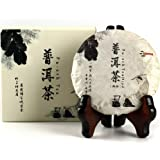 Aged Pu-erh Tea, Ripe Puerh Tea Cake, Year 2009, Organic and Fermented Chinese Black Tea for Daily Drink and Gift 100g/3.53oz