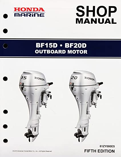 amazon com honda bf15 bf20 d model marine outboard service repair rh amazon com Golf Cart Wiring Diagram 15 Horsepower Outboard Motor