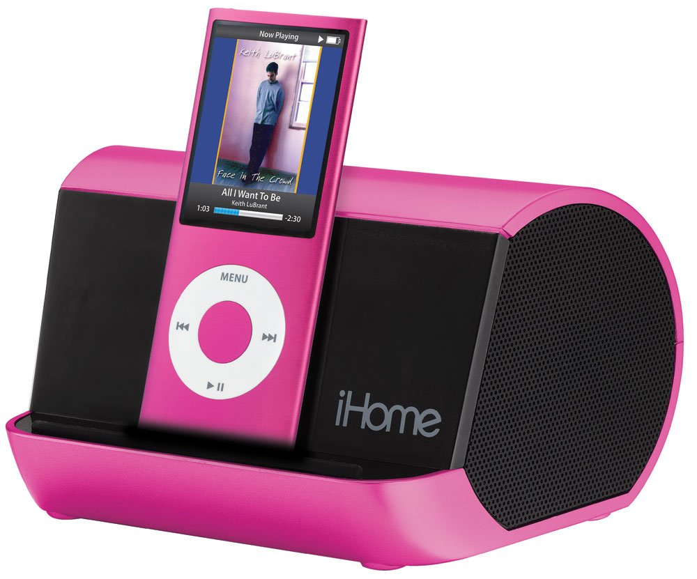 Amazon.com: IHome IHM10 Portable Stereo System For IPod, IPhone, And MP3  Players (Pink): Home Audio U0026 Theater