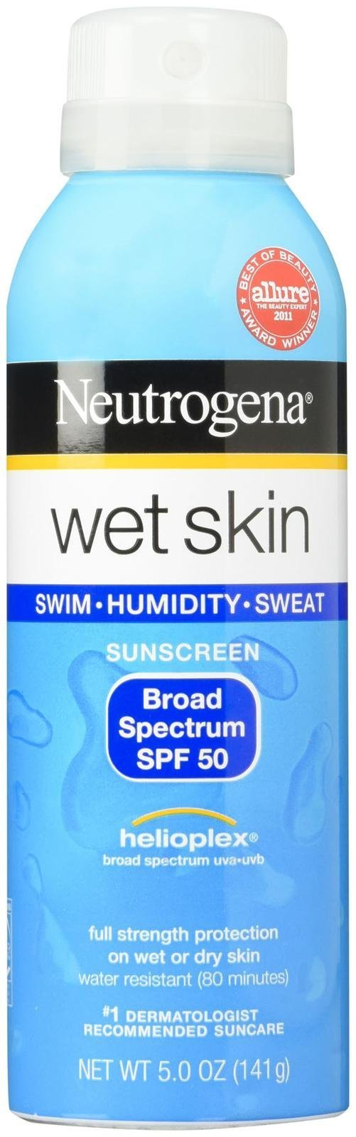 Neutrogena Wet Skin Sunscreen Spray SPF 50 5 oz