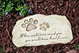 Evergreen Garden Pet Paw Print Devotion Painted Polystone Stepping...