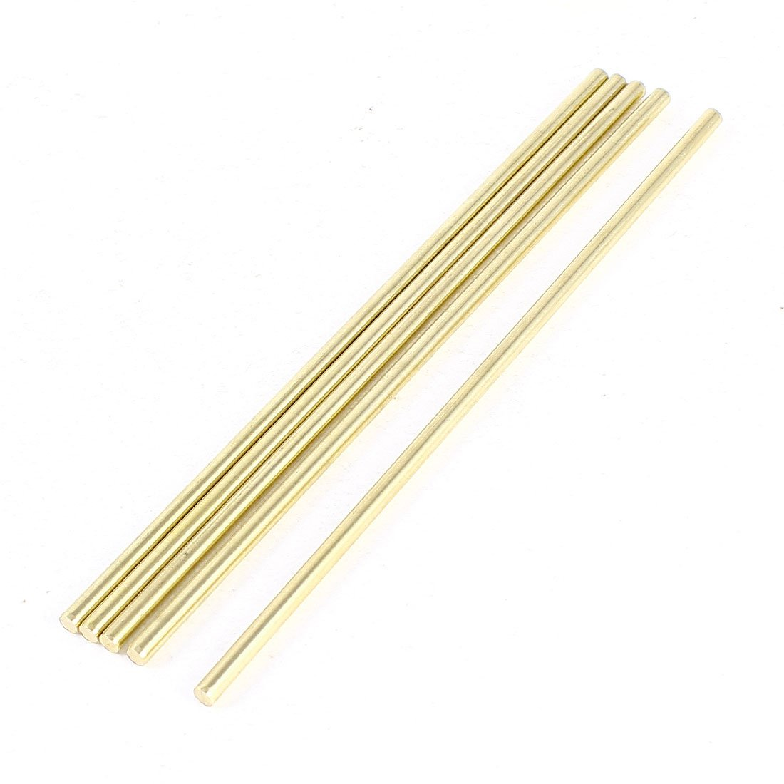 Sourcingmap  Car Helicopter Model Toy DIY Brass Axles Rod Bars 3mm x 120mm - 5 Pcs, Gold a14052900ux0009
