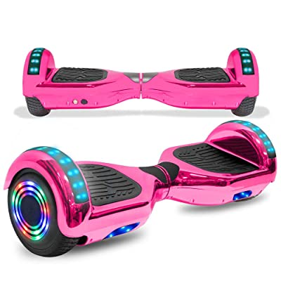 cho Colorful Wheels Series Hoverboard Safety Certified Hover Board Electric Scooter with Built in Speaker Smart Self Balancing Wheels: Sports & Outdoors [5Bkhe1801020]