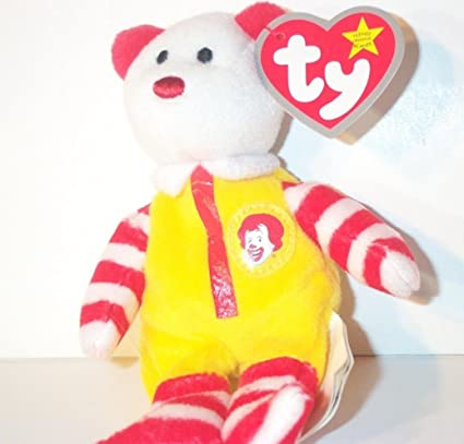 Ronald McDonald the Teddy Bear - McDonald s Ty Teenie Beanie - 2004  06 82267f11f5a0