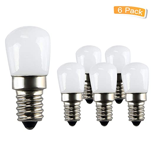 Amazon.com: LXcom - Bombilla de cerámica E12 LED, 2 W, base ...