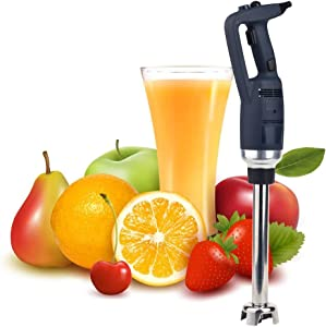 Multifunctional Commercial Electric Handheld Blender With Chopper Food Variable speed Mixer Juicer Meat Food Processors 350W, Length can be selected (300mm)