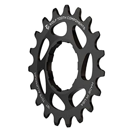 amazon com wolf tooth cnc machined aluminum singlespeed cogs in