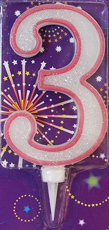 Clossy london Jumbo velas de cumpleaños 6 pulgadas en dos ...