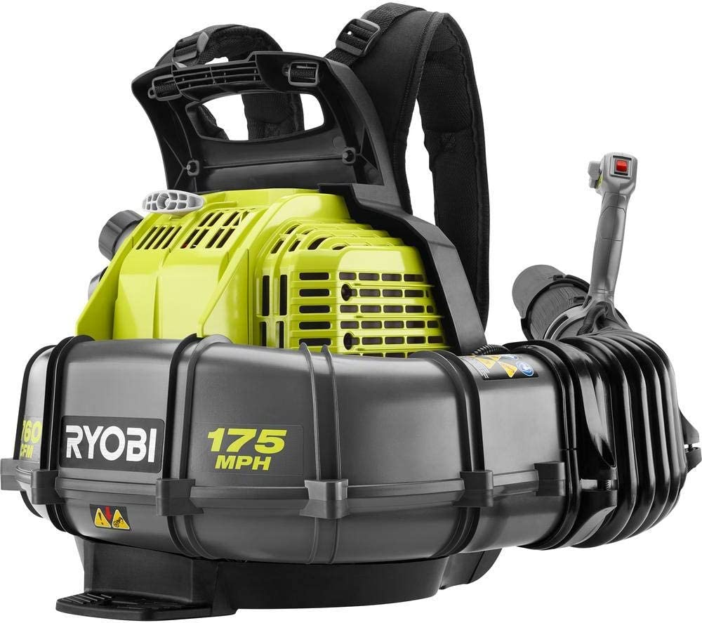 Ryobi 175 MPH 760 CFM 38cc 2-Cycle Gas Backpack Leaf Blower with Variable Speed Trigger (Renewed)