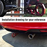 EIOUMAX Rear Tow Towing Hook for Universal Car Auto