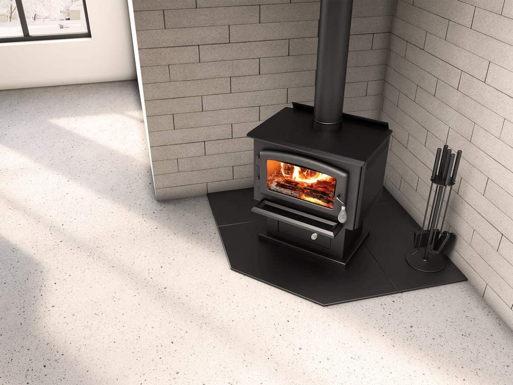 """54"""" Corner modular floor protection system for Wood and Pellet Stoves - Hearth Pad AC02786)"""