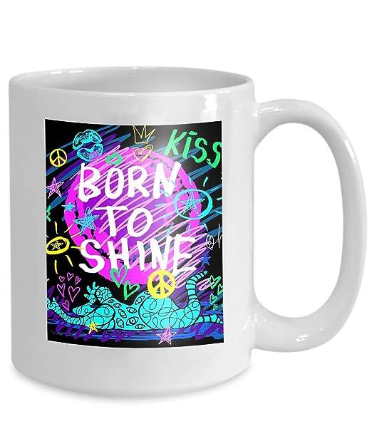 Taza de café Tea Cuphey diseño de letras impresión del ...