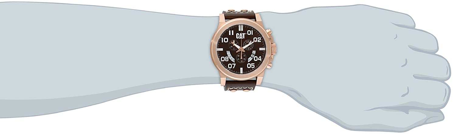 CAT WATCHES Herren Armbanduhr Chronograph Quarz Leder PS.193.35.939