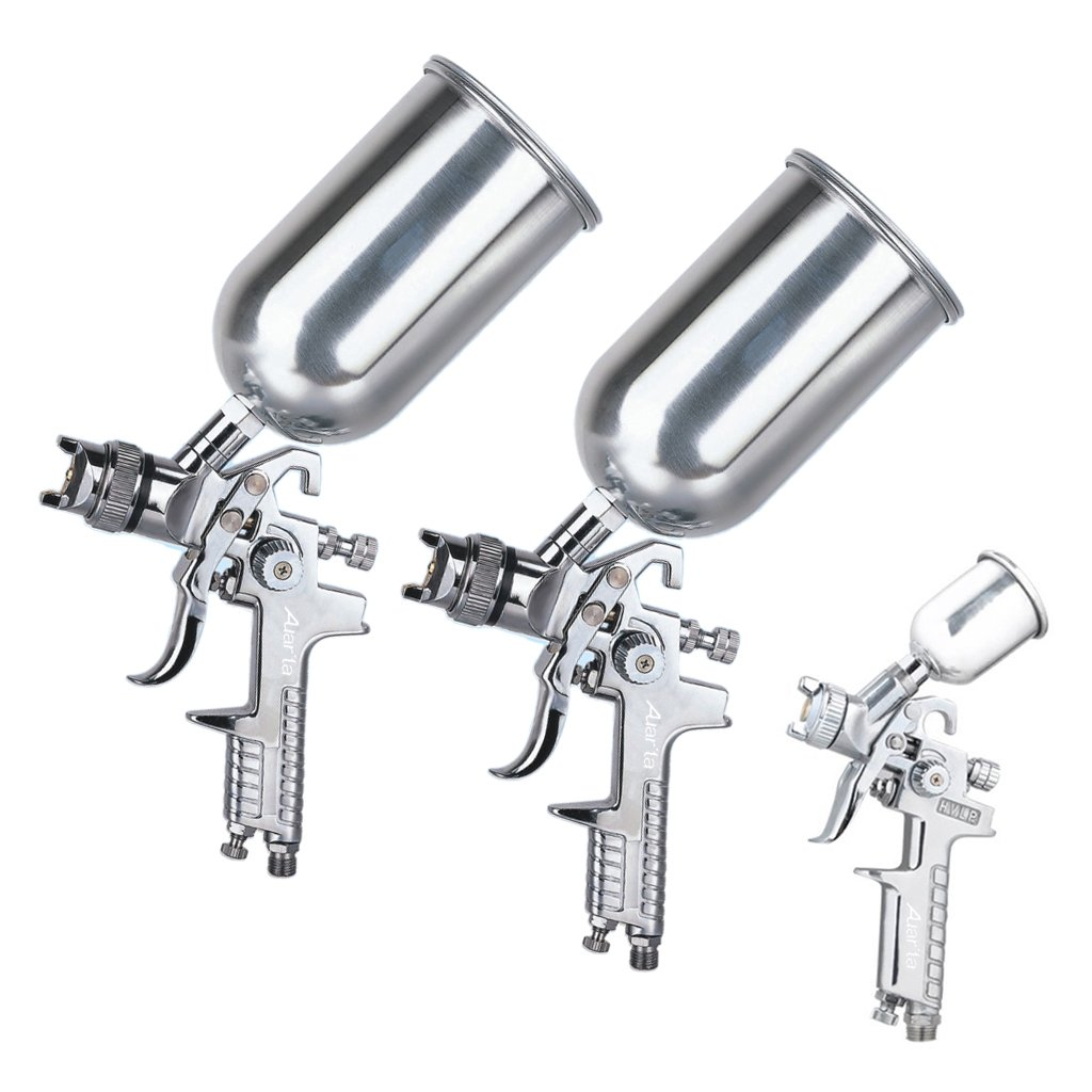 Paint Spray Gun Kit Part - 47: Auarita Air Spray Gun Kit Professional Spray Gun Gravity Feed Paint Sprayer  (1.4mm) - - Amazon.com