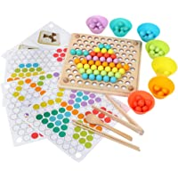 Gooder Early Education Toys Kids Hands Brain Training Math Game Chopsticks Beads Montessori Educational Toy Puzzle Board for Baby Children Boys Girls