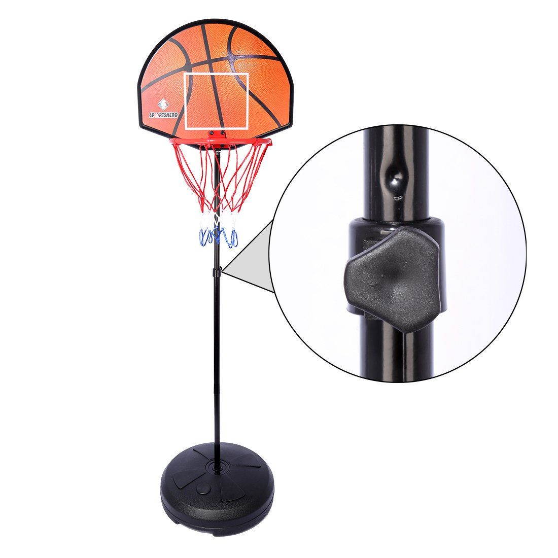 Basketball Stands PINCHUANGHUI 2-in-1 Standing Darts and Basketball Stands Kids Teenagers Goal Hoop Shooting Toy Set by PINCHUANGHUI (Image #2)