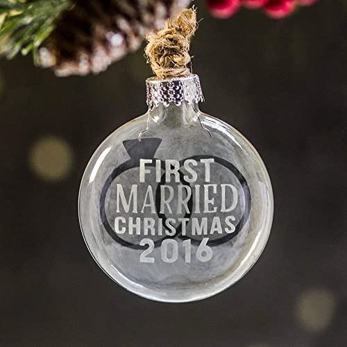 first married christmas ornament personalized wedding gift wedding presents our first married christmas - Our First Married Christmas Ornament