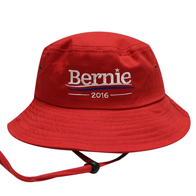 Bd2024 Bernie 2016 Bucket Hat with String Red at Amazon Men s ... 827edef5c6d
