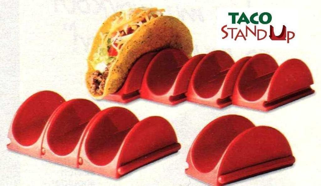 Amazon.com | Taco Stand Up Taco Stand Up Holders - 8 Pack Taco Plate Holder Serveware Accessories  sc 1 st  Amazon.com & Amazon.com | Taco Stand Up Taco Stand Up Holders - 8 Pack: Taco ...