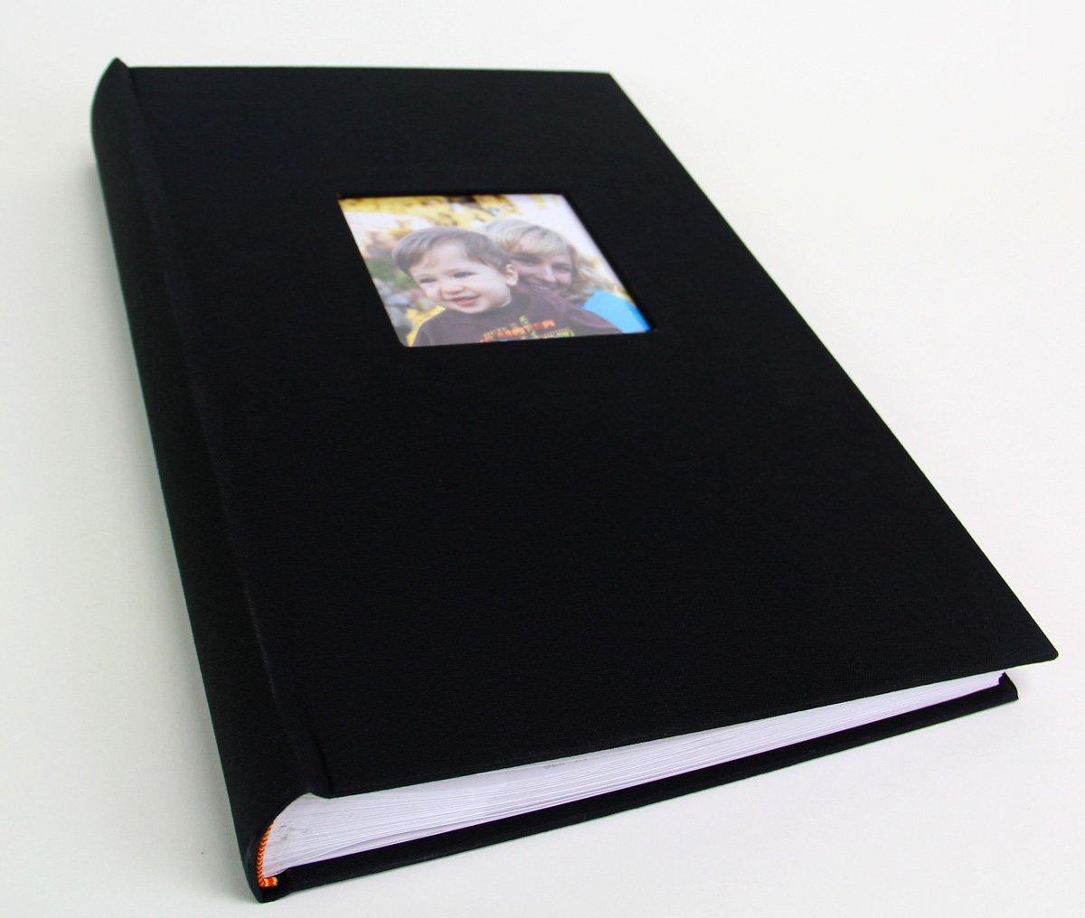 Deluxe Cloth Fabric Photo Album 4x6 300 Plastic Slip-in Pockets with Memo Spa... Sunline