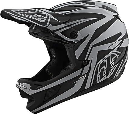 Amazon Com Troy Lee Designs Adult Bmx Downhill Mountain Bike Full Face D4 Composite Mips Slash Helmet Large Black Silver Sports Outdoors