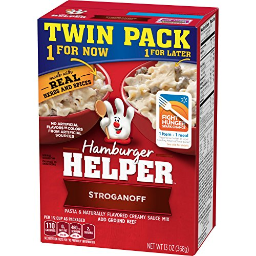 Betty Crocker Dry Meals Hamburger Helper Stroganoff Pasta and Creamy Sauce Mix, 13 ()