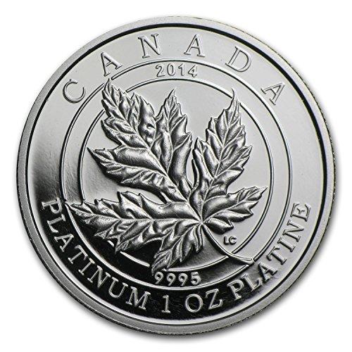 2014 CA Canada 1 oz Proof Platinum $300 Maple Leaf Forever 1 OZ Brilliant Uncirculated