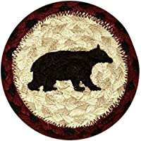 Earth Rugs 31-IC395CB Cabin Bear Round Printed Coaster, 5
