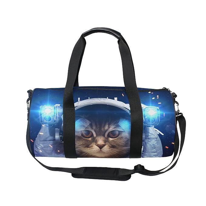 Amazon.com: naanle astronauta gato en espacio exterior bolsa ...