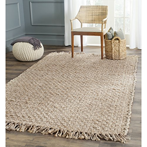 Safavieh Natural Fiber Collection NF856A Hand Woven Natural Jute Area Rug (4