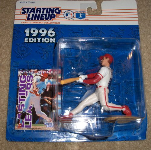 1996 - Kenner - Starting Lineup - MLB - Will Clark #22 - Texas Rangers - Vintage Action Figure - w/ Trading Card - Limited Edition - - Mlb Clark Will