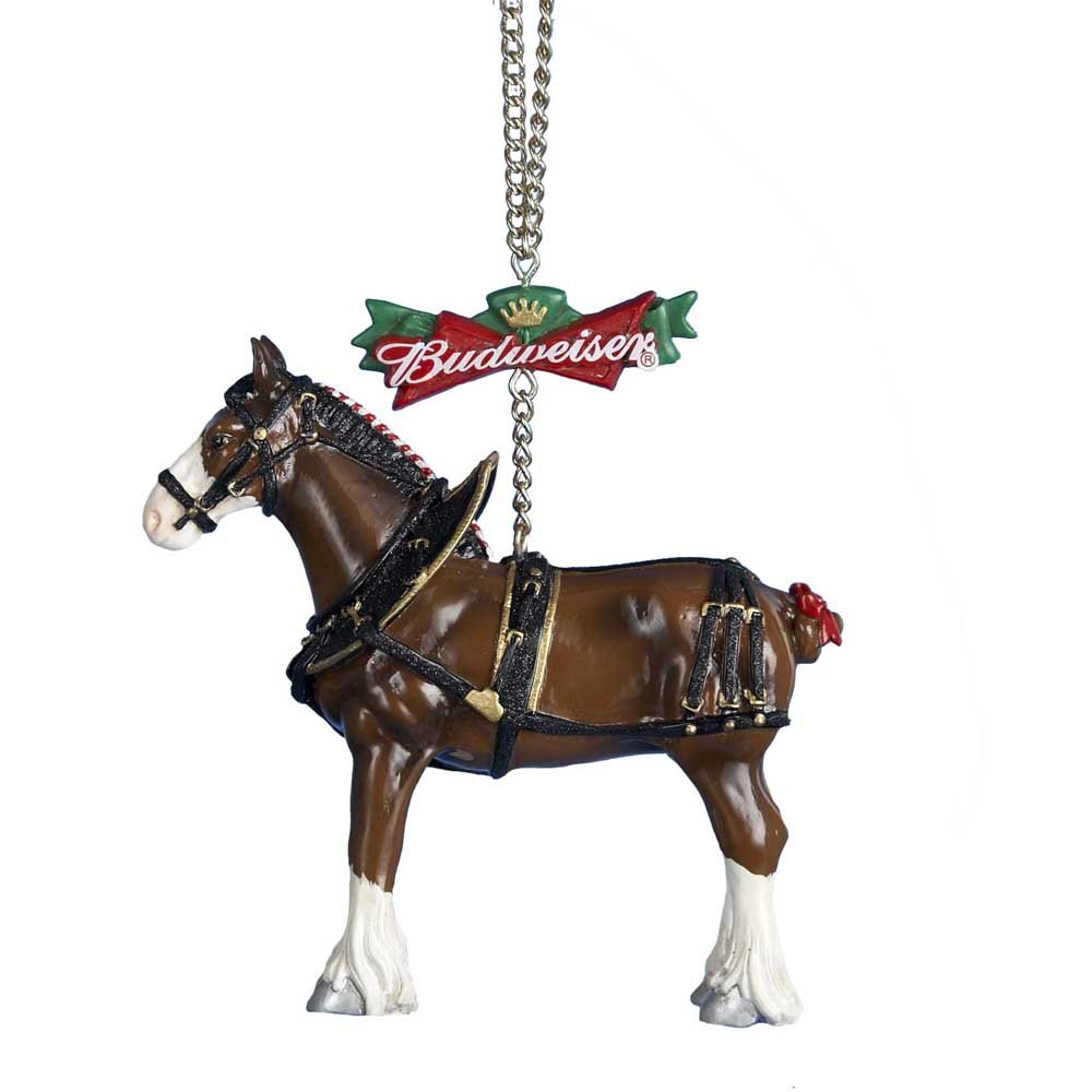 Amazon.com: Budweiser Clydesdale Horse Christmas Tree Ornament: Home ...