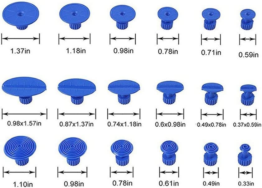 Hehilark 12 18PCS PDR Outils De Colle Outils Kit pour Voiture sans Peigne R/éparation Outil De R/éparation De Ventouses Auto Extracteurs Onglets Sag R/éparation Outil Joint