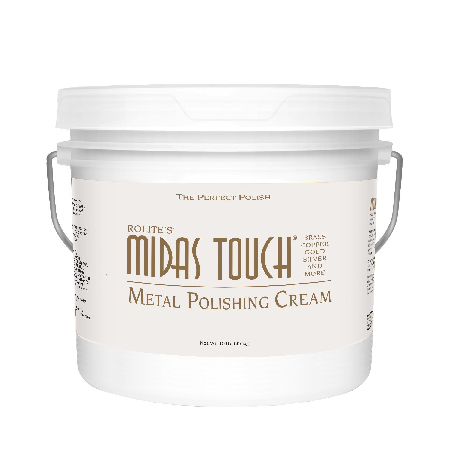 Rolite's Midas Touch Metal Polishing Cream (10lb) with Jewelers Rouge for Gold, Brass, Copper, Bronze, Platinum, Pewter, Bronze, Sterling Silver