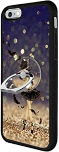 Black Swan Rose iPhone 6s 6 Case with Ring Holder Stand TPU Rubber Case Only for iPhone 6s 6