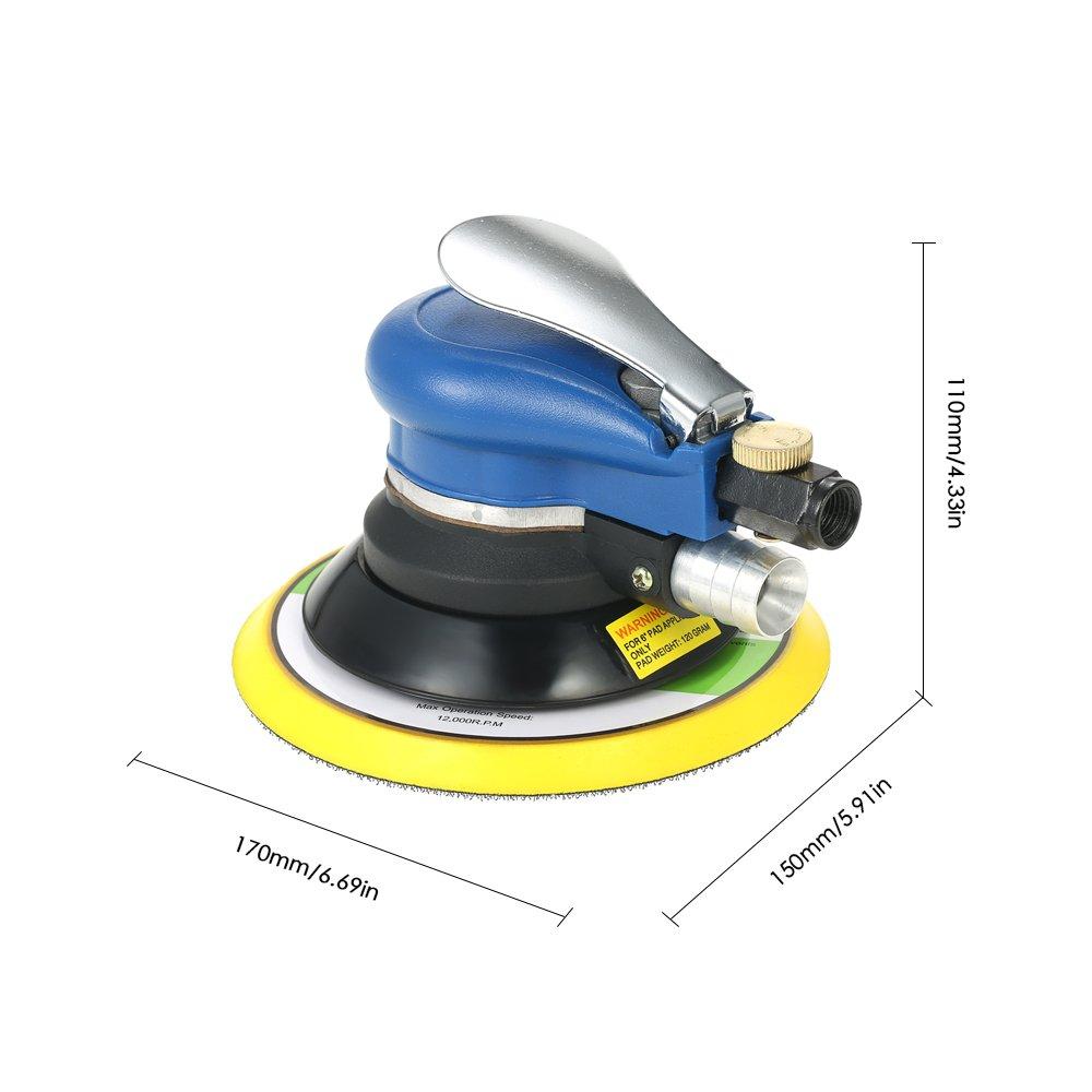 KKmoon 510,000rpm Lijadora Neum/ática para Cuidado de Pintura de Coche//Carpinter/ía,Pulidora Orbital,Amoladora El/éctrica de Aire Comprimido